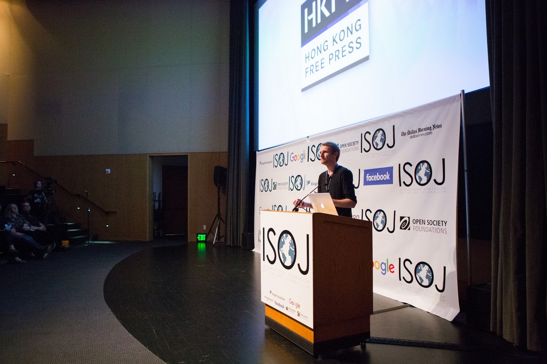 Tom Grundy at ISOJ 2017